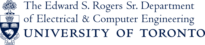 Edward S. Rogers Sr. Department of Electrical & Computer Engineering, University of Toronto