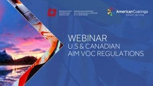 Webinar: U.S and Canadian AIM VOC Regulations