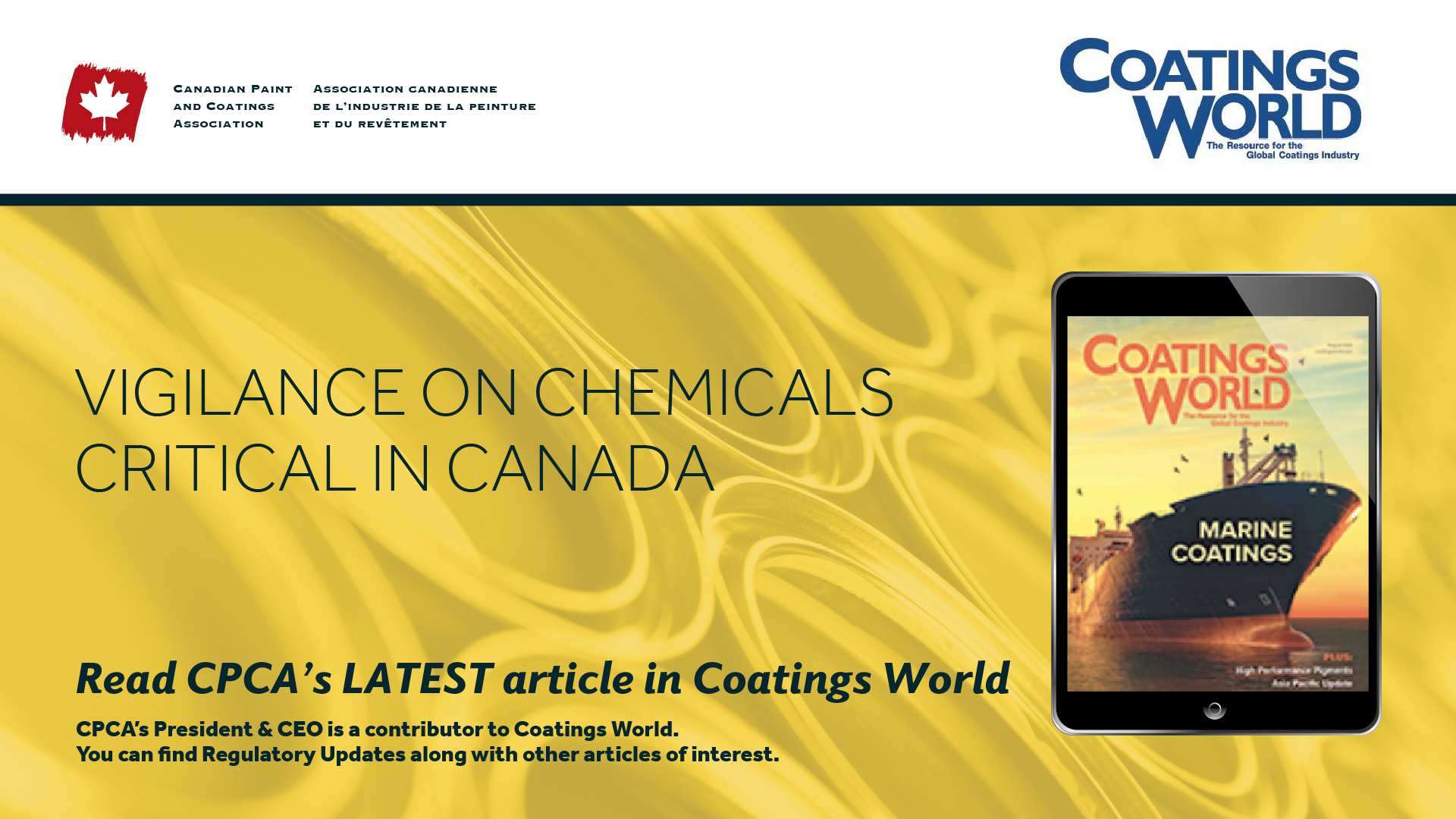 Vigilance on Chemicals Critical in Canada