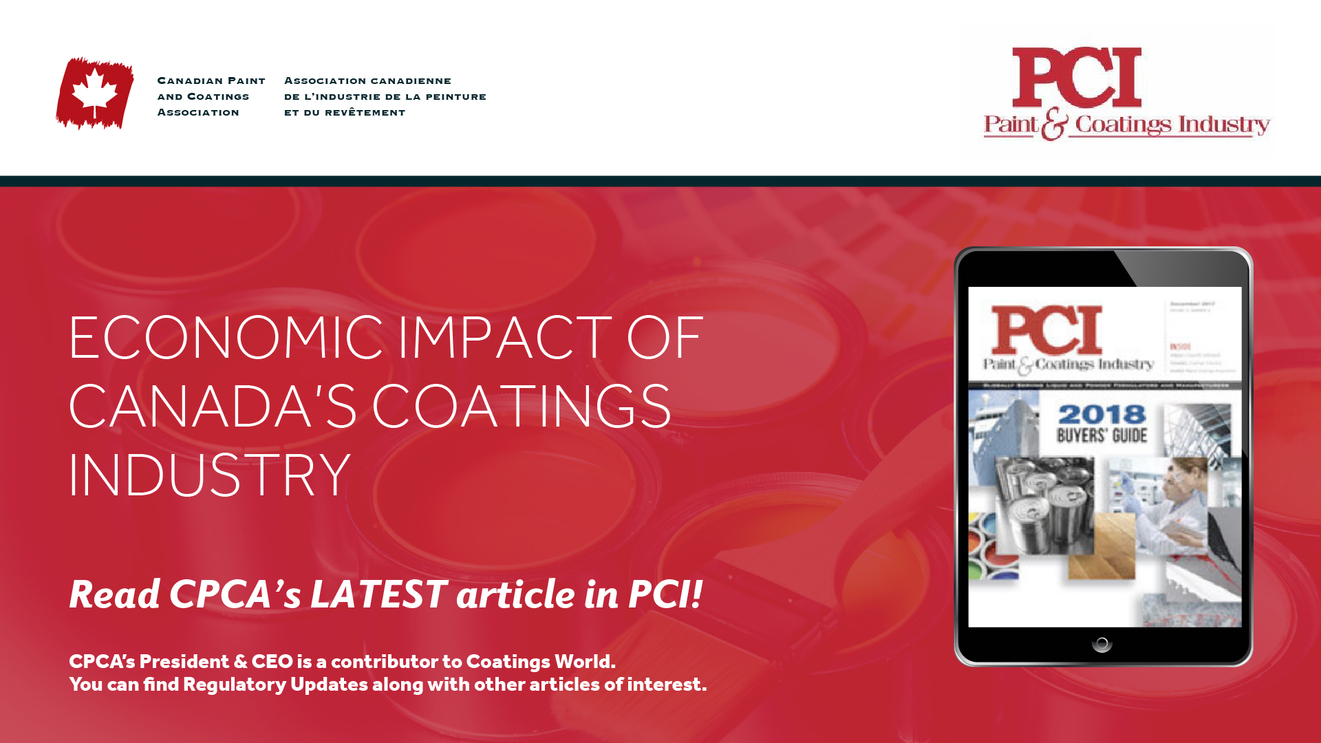 Economic Impact of the Paint and Coatings Industry in Canada
