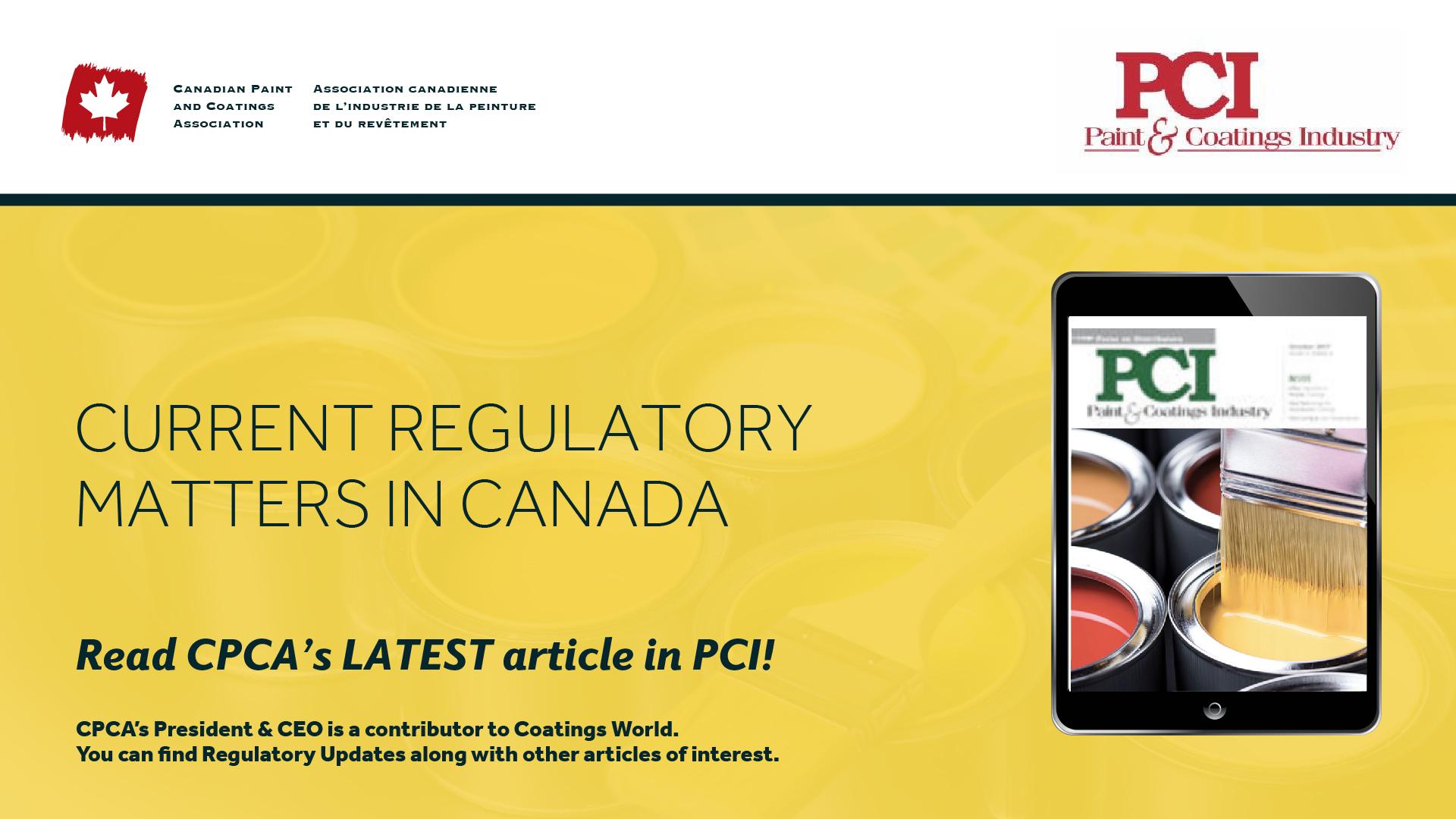 Current Regulatory Matters in Canada
