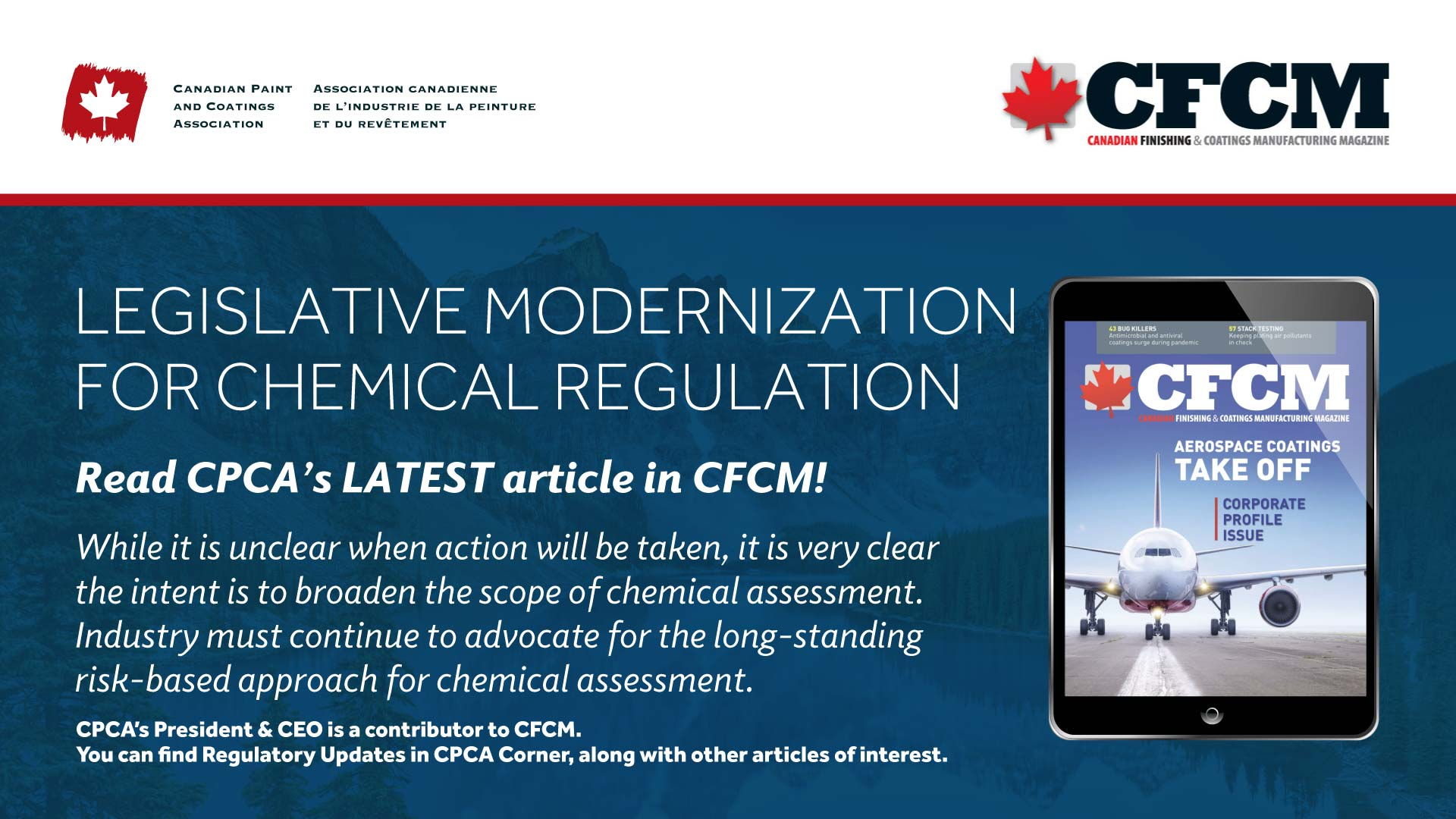 CFCM Article Legislative Modernization for Chemical Regulation