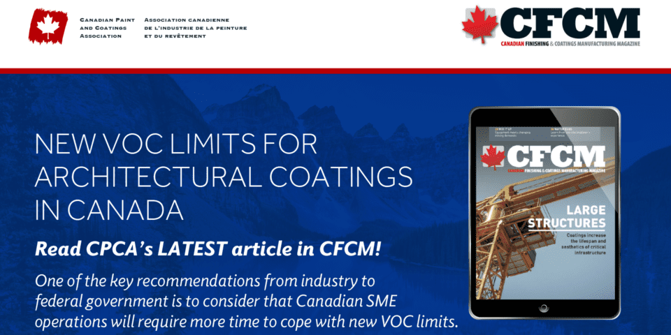 NEW VOC Limits For Architectural Coatings In Canada