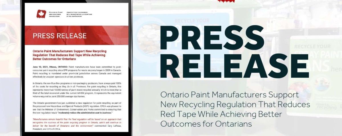 CPCA Press Release