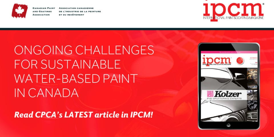 Ongoing Challenges for Sustainable Water-Based Paint in Canada